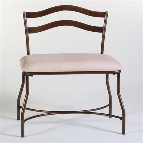 metal vanity bench windsor metal vanity bench in burnished bronze dcg stores