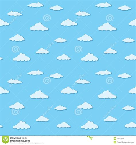 pattern blue sky vector seamless pattern clouds on blue sky royalty free