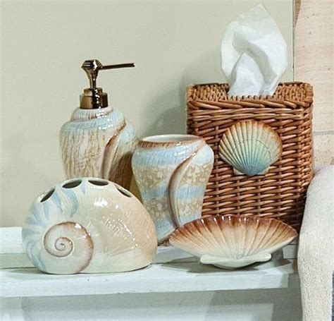beach home decor accessories sarasota seashells toothbrush holder saturday knight http