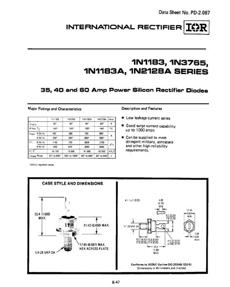 diodes and rectifiers pdf power rectifier diode datasheet 28 images international rectifier power diode 70u40 300 400
