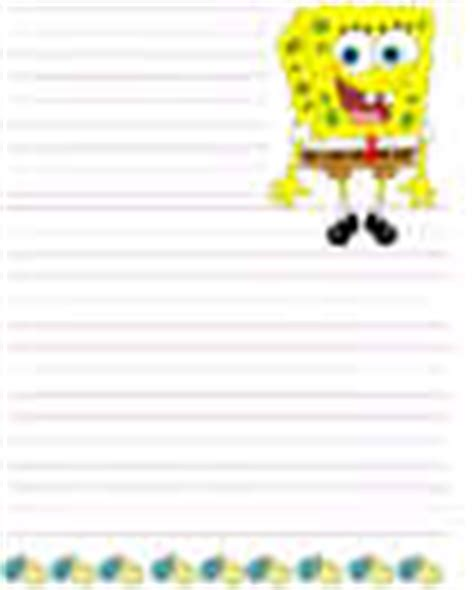 spongebob writing paper sponge bob square crafts