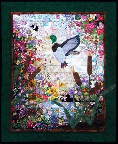 boekenkast quilt ducks and cattails watercolor quilt kit annthegran
