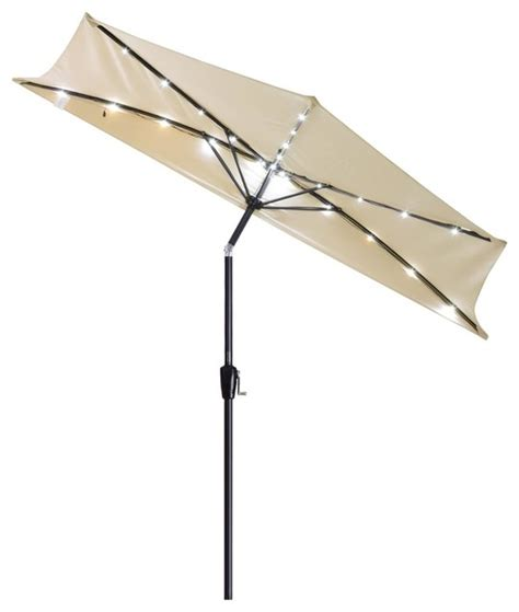 Half Patio Umbrella 9 Half Umbrella Patio Umbrella With Led Lights Contemporary Outdoor Umbrellas By Yescom