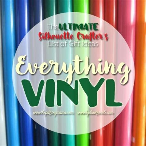 Everything You Need Vinyl - everything you need to do vinyl projects with your