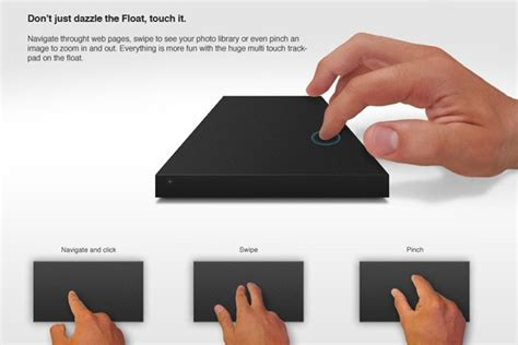 Touchpad Eksternal float concept combines external hdd with trackpad ingenuity with