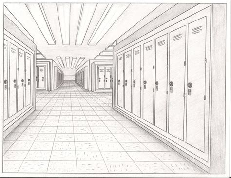 Sketches School by Lockers On A School Hallway By Thealjavis On Deviantart