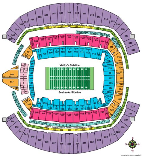 seahawks seating chart with rows seahawks centurylink stadium seating chart