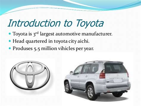 toyota motor corporation toyota motor corporation