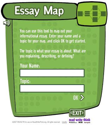 Essay Map Read Write Think by Nik S Daily Activities Writing An Essay In