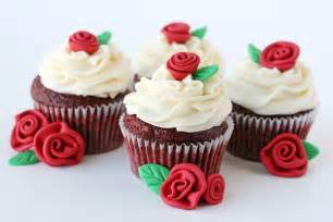 red velvet cupcakes with roses recipe glorious treats