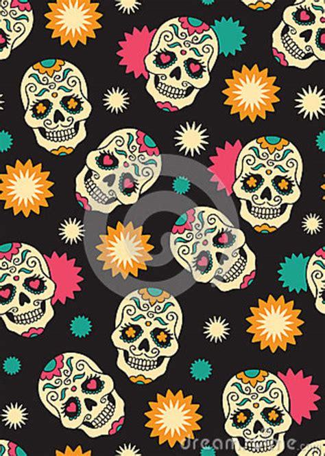 skull pattern iphone wallpaper mexican sugar skull wallpaper seamless with sugar skulls
