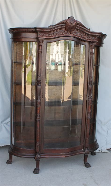 antique curved glass china cabinet value bargain john s antiques 187 blog archive antique large oak