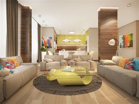bright colored living rooms stylish family home features bright tropical colors