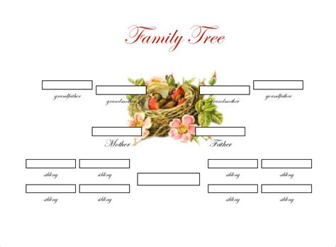 Free Printable Family Tree With Siblings | family tree template 37 free printable word excel pdf