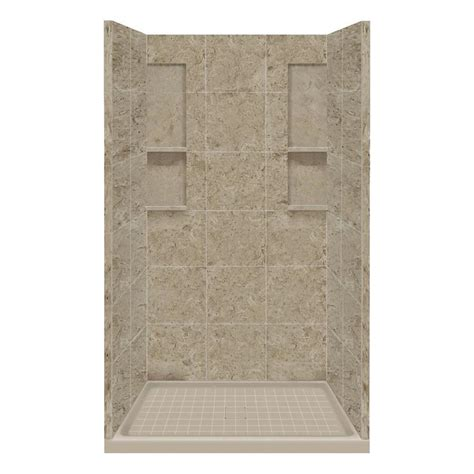 Corian Shower Kit shop style selections sand mountain solid surface wall and