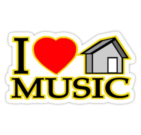 i love house music logo house outline logo clipart best