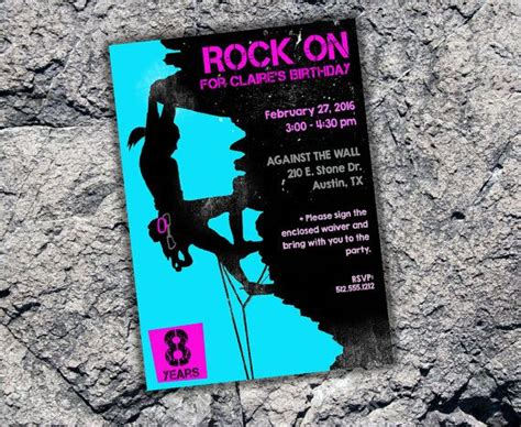 Printable Rock Climbing Invitations