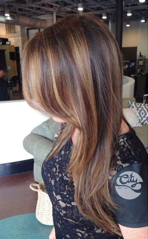 brunette hairstyles foils balayage brunette by olive at city salon and spa of athens