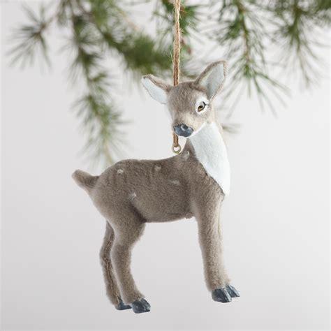 deer ornaments fabric deer ornaments set of 4 world market