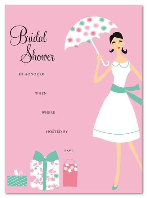 bridal shower invitations fill in