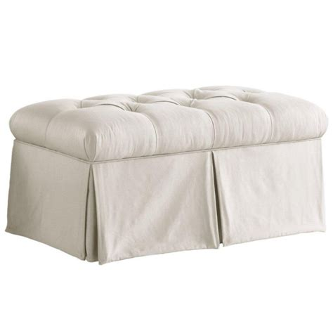 skirted storage bench skyline furniture skirted storage bench in shantung