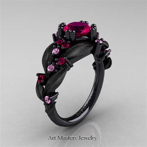 nature classic 14k black gold 1 0 ct ruby light pink