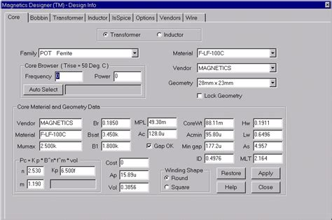 inductor design software free magnetics designer transformer and inductor design and analysis made easy