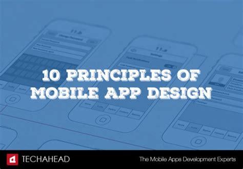 app design principles 10 principles of mobile app design