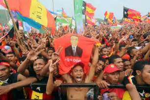 Lu Timor timor leste elections citizens to polls to cast vote for president to speak for the