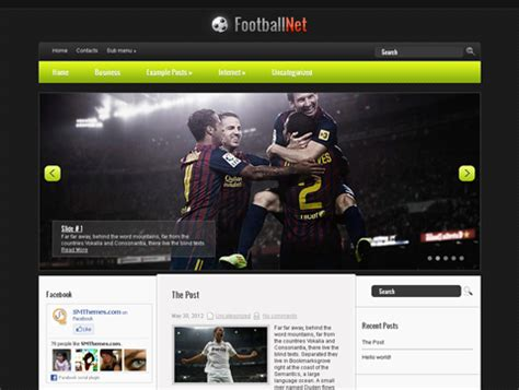 theme blog football 10 outstanding free wordpress sports themes by smthemes