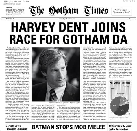 newspaper layout pinterest the gotham times newspaper harvey dent basic newspaper