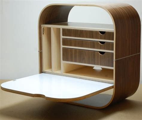 Wall Mounted Desk Shelf by Wall Mounted Modular Desk Transforms A Living Room Into A
