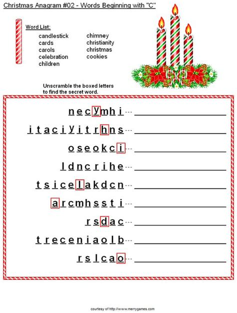 printable christmas anagrams christmas candles anagram christmas pinterest