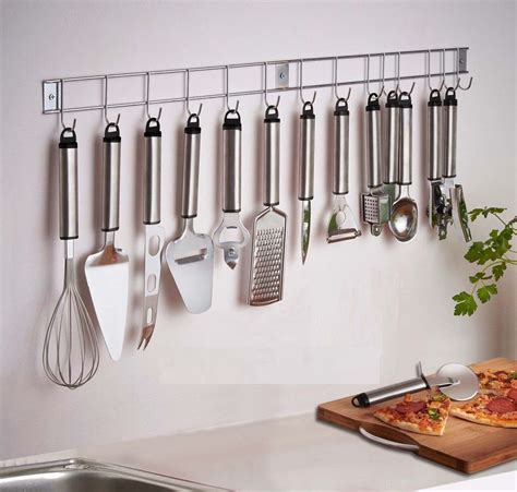 hanging for kitchen 12 piece stainless steel kitchen utensil gadget set with