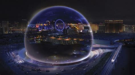 high tech sphere shaped arena coming  las vegas strip