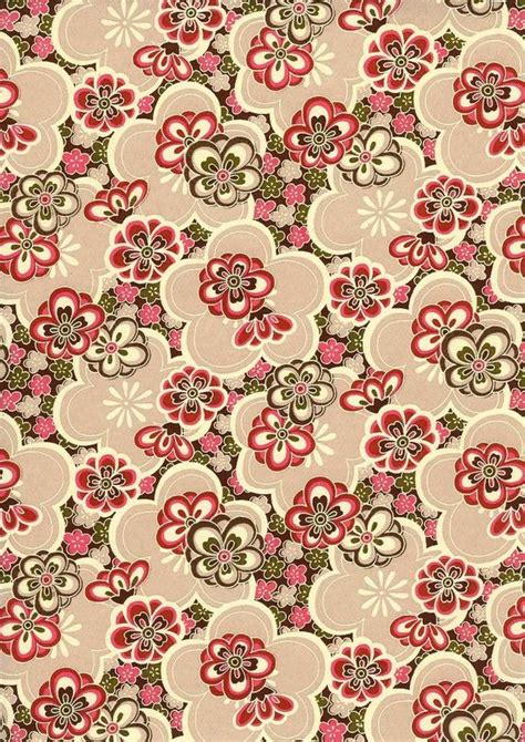 japanese yuzen chiyogami washi paper floral design 53