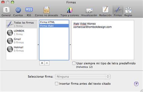html format apple mail crear firma html en apple mail tutorial html