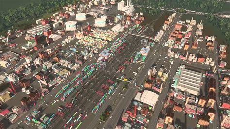 industrial zone layout cities skylines industrial area cities skylines city design youtube