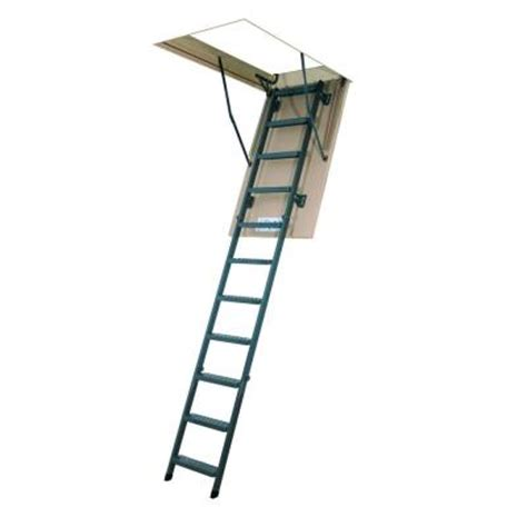 Home Depot 10 Foot Ladder by Fakro 10 Ft 25 In X 54 In Insulated Steel Attic Ladder