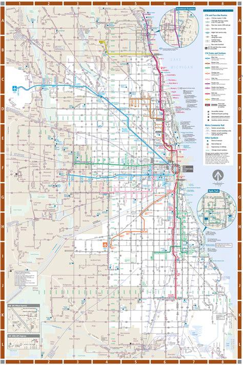 chicago rail map chicago detailed rail transport map mapsof net