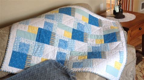 Patchwork Quilts For Babies - flannel patchwork baby quilt quiltsby me
