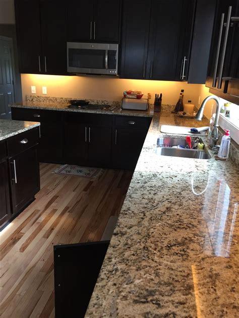 espresso kitchen cabinets with granite countertops led lighting kitchen espresso cabinets and santa