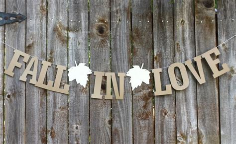 Rustic Wedding Banner by Fall In Banner Fall Wedding Banner Bridal Shower