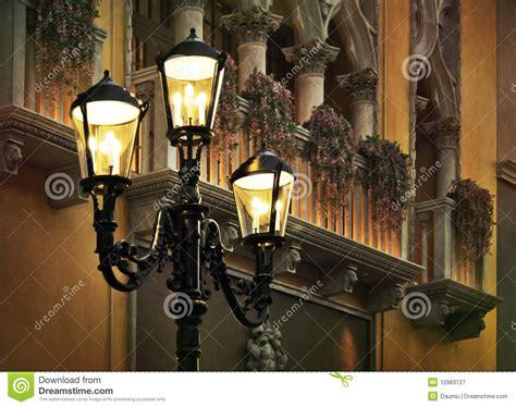 europe corner classic lights stock image