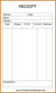 6 printable sales receipt writable calendar