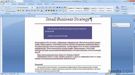 microsoft word 2010 format codes tutorial 6 youtube how to apply style sets in microsoft word lynda com