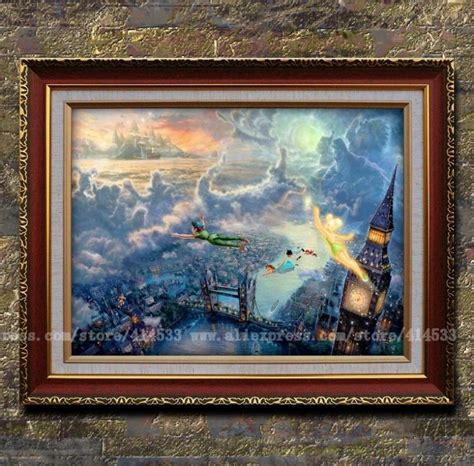 Home Interiors Kinkade Prints Kinkade Prints Tinker Bell And Pan Fly To