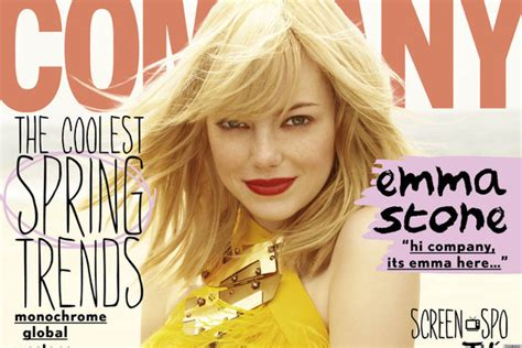 emma stone facebook emma stone company cover is the same as her elle cover