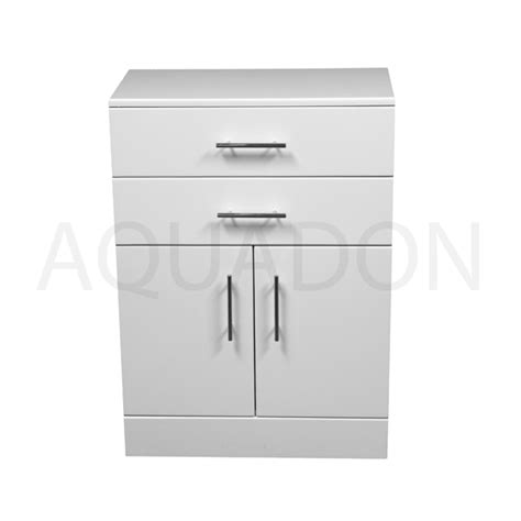 White Gloss Bathroom Storage by Bathroom Cloakroom Vanity Storage Furniture Units Gloss