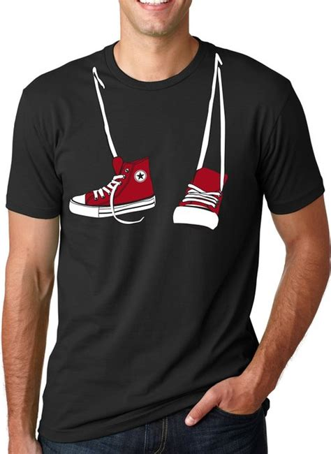 T Shirt Shoes Cloth converse hanging shoe t shirt